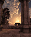 Fantasy temple ruins Stock Photos