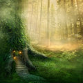 Stock Images Fantasy tree house
