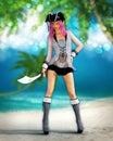 Fantazie tropický pirát umění
