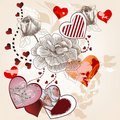 Fantasy valentine postcard Royalty Free Stock Image
