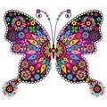 Fantasy vivid vintage butterfly Royalty Free Stock Photo
