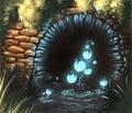 Fantasy water plant digital illustration
