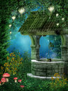 Fantasy wishing well Royalty Free Stock Images