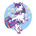 Fantasy world, rainbow unicorn