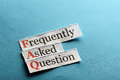 Faq abbreviation frequently asked question concept for website service on paper Royalty Free Stock Photo