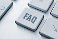 Royalty Free Stock Photo FAQ button