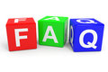 FAQ colorful cubes. Royalty Free Stock Photo