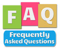 FAQ Colorful Stripes Royalty Free Stock Photo