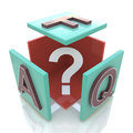Faq cube in the design of information related to internet Stock Image