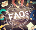 Faq frequently asked questions guidance explanation concept Royalty Free Stock Image