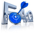 Faq high resolution rendering of a icon Royalty Free Stock Photo