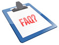 FAQ Icon clipboard Royalty Free Stock Photos