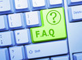 FAQ key Stock Image