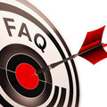 Faq shows assistance and support showing through questions asked Royalty Free Stock Image