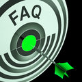 Faq shows frequently asked questions showing information and advice Royalty Free Stock Photography