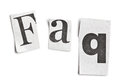 Faq word made ​​of newspaper letters Royalty Free Stock Image