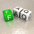 Faq word made of cubes Stock Photography
