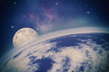 Far away universe abstract science backgrounds nasa imagery used Stock Image