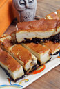Far breton delicious cake with prunes Royalty Free Stock Images