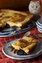 Far breton delicious cake with prunes Stock Image
