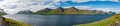 Far Oer Danmark Mykines Island Panorama Royalty Free Stock Photo