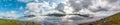 Far Oer Danmark Vestmanna Cliffs Panorama view Royalty Free Stock Photo