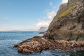 Far Oer Danmark Vestmanna Cliffs Panorama view Royalty Free Stock Photo