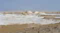 Farafra in egypt the white desert with rock formation Stock Photography