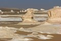 Farafra in egypt the white desert with rock formation Royalty Free Stock Photos