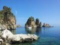 Faraglioni of scopello beautiful photo s sicily italy Stock Photo