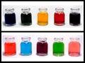 Farbige Flaschen Lizenzfreies Stockfoto