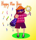 Farbror jack happy new year Arkivbild