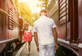 Farewell forever : Last love couple farewell Royalty Free Stock Photo