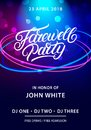 Farewell party hand written lettering. Royalty Free Stock Photo