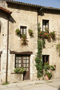 Farfa village nice house in near rome Royalty Free Stock Photo