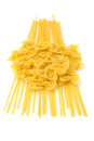 Farfale and Linguine Pasta Stock Photos