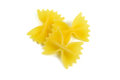Farfalle, italian raw pasta Royalty Free Stock Photos