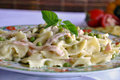 Farfalle Pasta Dish  Stock Photos