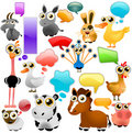 Farm animal cartoon set Royalty Free Stock Photography