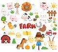 farm animal vector set