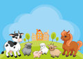 Farm animals background