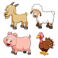 Farm animals cartoon Stock Images