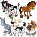 Farm Animals Collection Set 02 Royalty Free Stock Photo