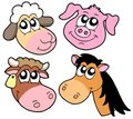 Farm animals details collection Royalty Free Stock Image