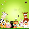 Farm animals frame illustration of Royalty Free Stock Photo