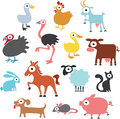 Farm animals funny vector illustration of Royalty Free Stock Photos