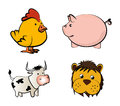 Farm animals icons over white background vector illustration Stock Image
