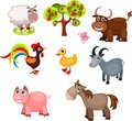 Farm animals illustration set of Stock Photo