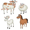 Farm animals illustration of on a white background Royalty Free Stock Photo