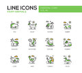 Farm animals - line design icons set Royalty Free Stock Photo
